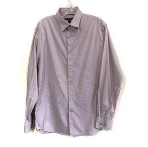Banana Republic pinstripe button down shirt purple